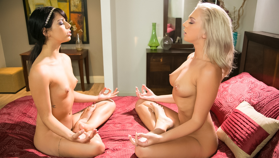 Pink Teen Pussy Yoga!